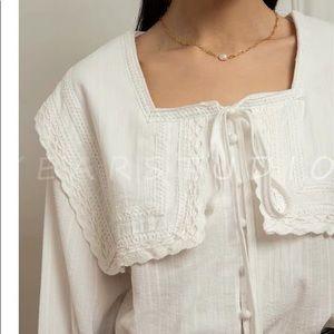Pixie market sailor collar  cotton blouse